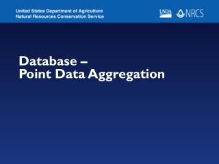 Database –  Point Data Aggregation