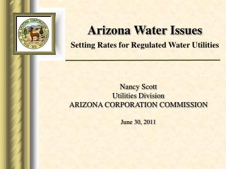 Arizona Water Issues Setting Rates for Regulated Water Utilities