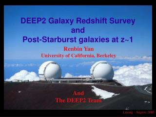 DEEP2 Galaxy Redshift Survey and Post-Starburst galaxies at z~1