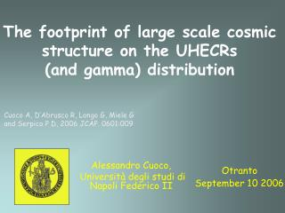 The footprint of large scale cosmic structure on the UHECRs       (and gamma) distribution