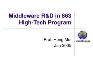 Middleware R&D in 863 High-Tech Program
