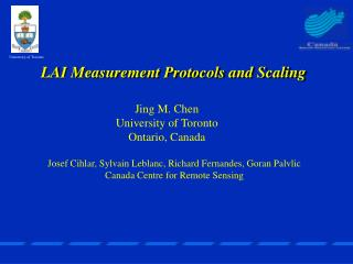 LAI Measurement Protocols and Scaling