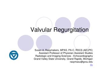 Valvular Regurgitation