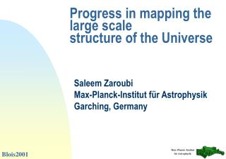 Progress in mapping the large scale  structure of the Universe