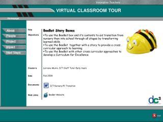 VIRTUAL CLASSROOM TOUR