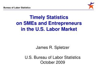 Timely Statistics on SMEs and Entrepreneurs in the U.S. Labor Market