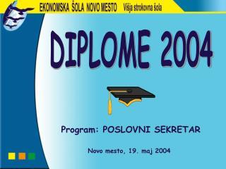 Program: POSLOVNI SEKRETAR Novo mesto, 19. maj 2004
