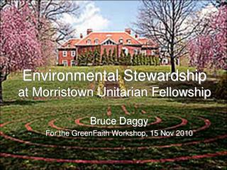 Environmental Stewardship at Morristown Unitarian Fellowship