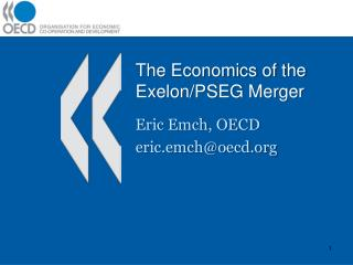 The Economics of the Exelon/PSEG Merger