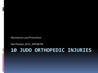 10 Judo Orthopedic Injuries