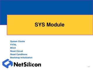 SYS Module
