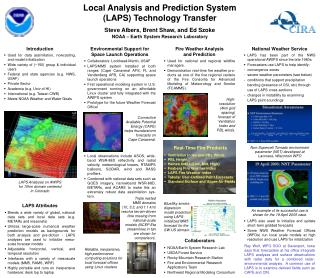 Local Analysis and Prediction System (LAPS) Technology Transfer