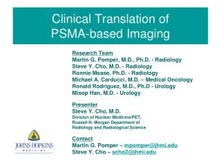 Clinical Translation of  PSMA-based Imaging