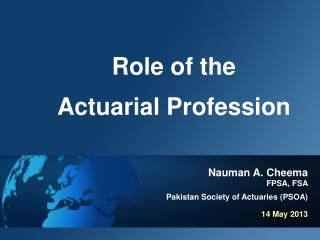 Role of the Actuarial Profession