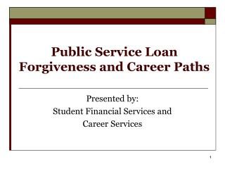 Public Service Loan Forgiveness and Career Paths