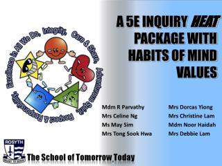 A 5E INQUIRY  HEAT  PACKAGE WITH HABITS OF MIND VALUES