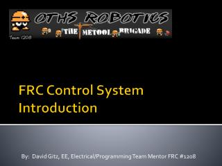 FRC Control System Introduction
