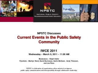 NPSTC Discusses Current Events in the Public Safety Community