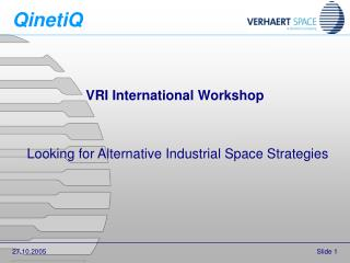 VRI International Workshop