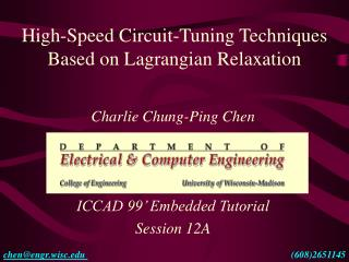 High-Speed Circuit-Tuning Techniques Based on Lagrangian Relaxation