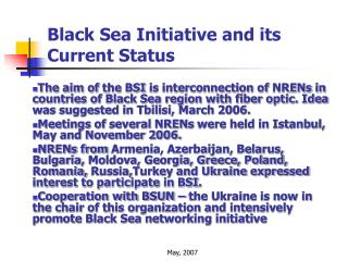 Black Sea Initiative and its Current Status