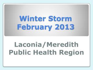 Winter Storm February 2013