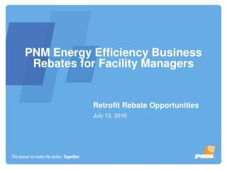 PNM Energy Efficiency Business Rebates for Facility Managers