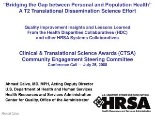 """Bridging the Gap between Personal and Population Health"""