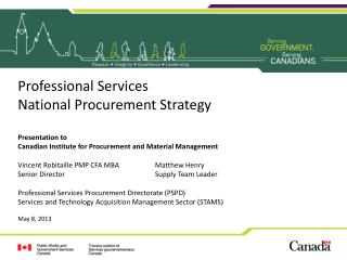 Professional Services National Procurement Strategy