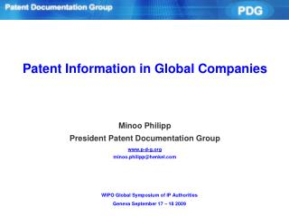 Patent Information in Global Companies