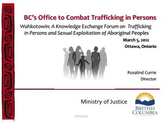 BC's  Office to Combat Trafficking in Persons