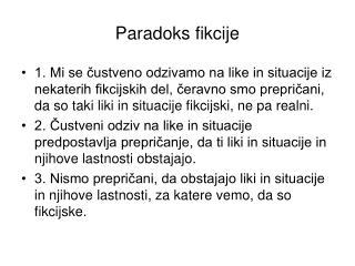 Paradoks fikcije