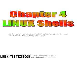 Chapter 4 LINUX Shells