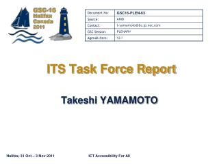 ITS Task Force Report