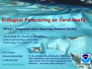 Ecological Forecasting on Coral Reefs