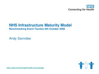 NHS Infrastructure Maturity Model Benchmarking Event Taunton 8th October 2008