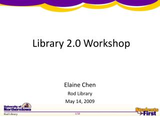Library 2.0 Workshop