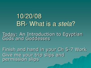 10/20/08 BR- What is a  stela ?