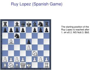 Ruy Lopez (Spanish Game)