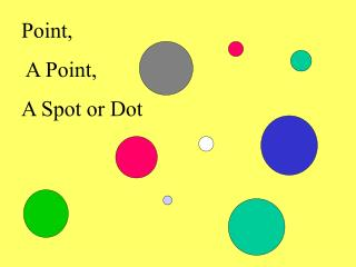 Point,    A Point,  A Spot or Dot