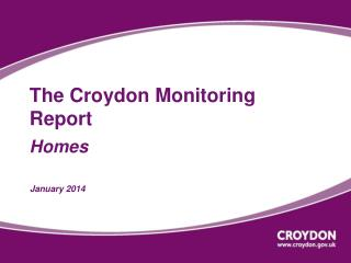 The Croydon Monitoring Report