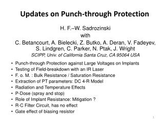 Updates on Punch-through Protection