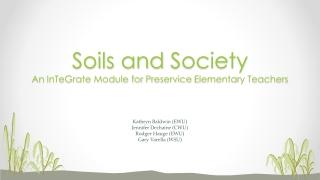 Unit 8: Soils characteristics