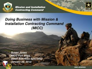 Doing Business with Mission & Installation Contracting Command (MICC)