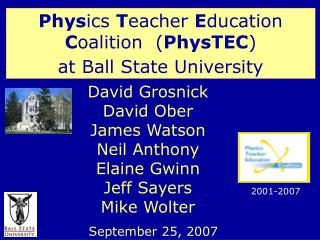 David Grosnick David Ober James Watson Neil Anthony Elaine Gwinn Jeff Sayers Mike Wolter