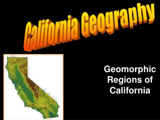 Geomorphic Regions of California