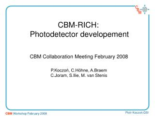 CBM-RICH:  Photodetector developement