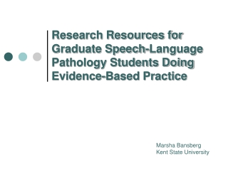 Principles of Evidence-Based Practice
