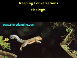 Keeping Conversations strategic
