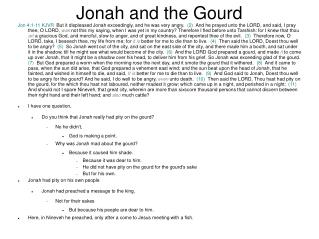 Jonah and the Gourd